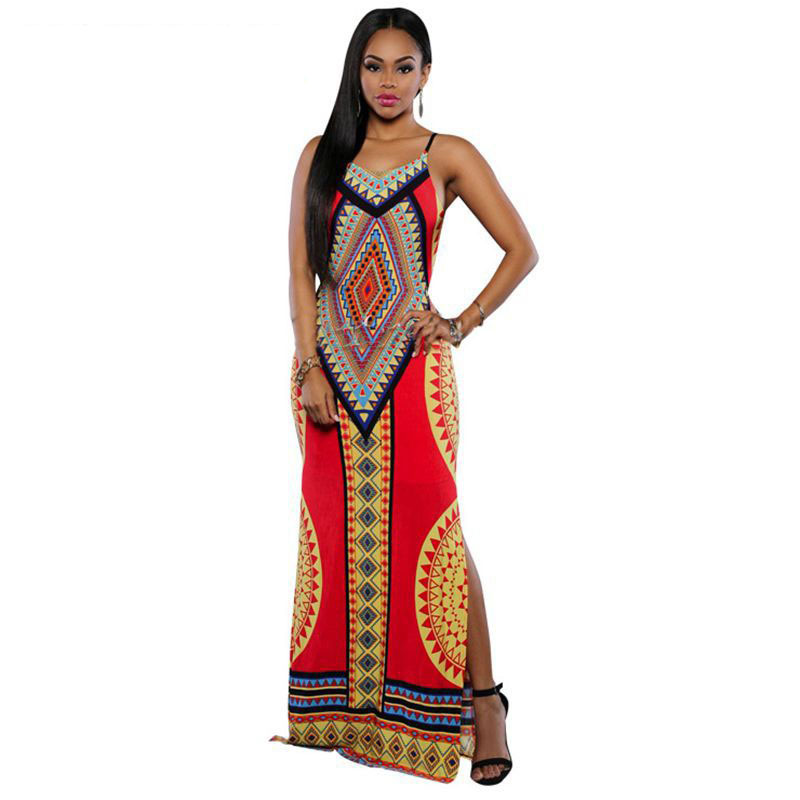 Women Summer Maxi <strong>Dress</strong> 2016 Bodycon Party <strong>Dresses</strong> Size Vestidos Sundress Backless Bandage Dashiki Boho Long <strong>Dress</strong>