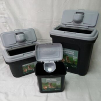 15kg pet food storage container with a scoop dog food bin 5kg 8kg 15kg 25kg