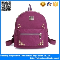 Tmall most popular casual bags daily lady back pack high quality nylon school backpack bag made in China