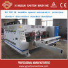 Lead Edge Feed Fully Automatic Corrugated Box Packing And Making Machine