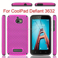 new mesh combo rugged holster case for coolpad defiant 3632 metro pcs