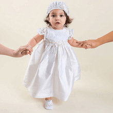 2016 summer baby girl christening gowns 1 year birthday dress lace fashion tutu wedding baptism dresses with bonnet