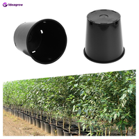Agricultural greenhouse / flower garden 1/2/3/5/7/10/15/20/25 gallon growing plastic nursery grow pots with bottom drainage