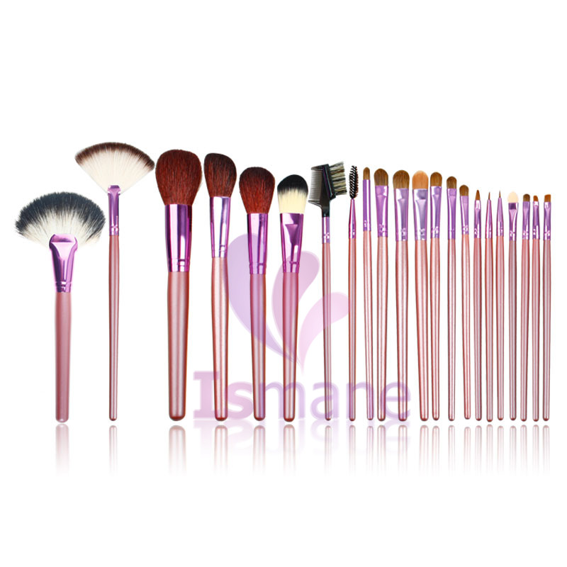 Fashion 22 pcs Eye Shadow Applicator Pro Cosmetic Foundation Makeup Brush Set Original Makeup Purple