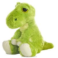 cute Dreamy Eyes Soft And Fluffy 10 Inch green Dinosaur Stuffed Animal Plush Toy