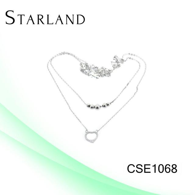 Starland 925 Silver gold necklace