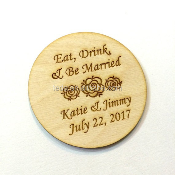 Coaster Gift Set with <strong>Wooden</strong> or Bamboo Tray