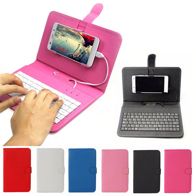 Smartphone 6 inch 7 inch Phone Keyboard Case for Samsung Galaxy S5 S3 S4 Note 2 Note 3 Note 8