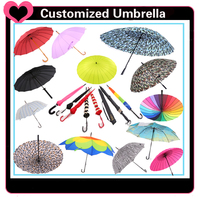 Strong and durable windproof cute folding umbrella
