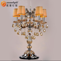 antique crystal chandelier table lamp for hotel / home OMF00107