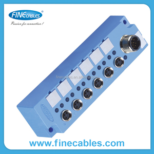 M5 termination 4 way ports electrical waterproof outdoor PVC cable tv junction box