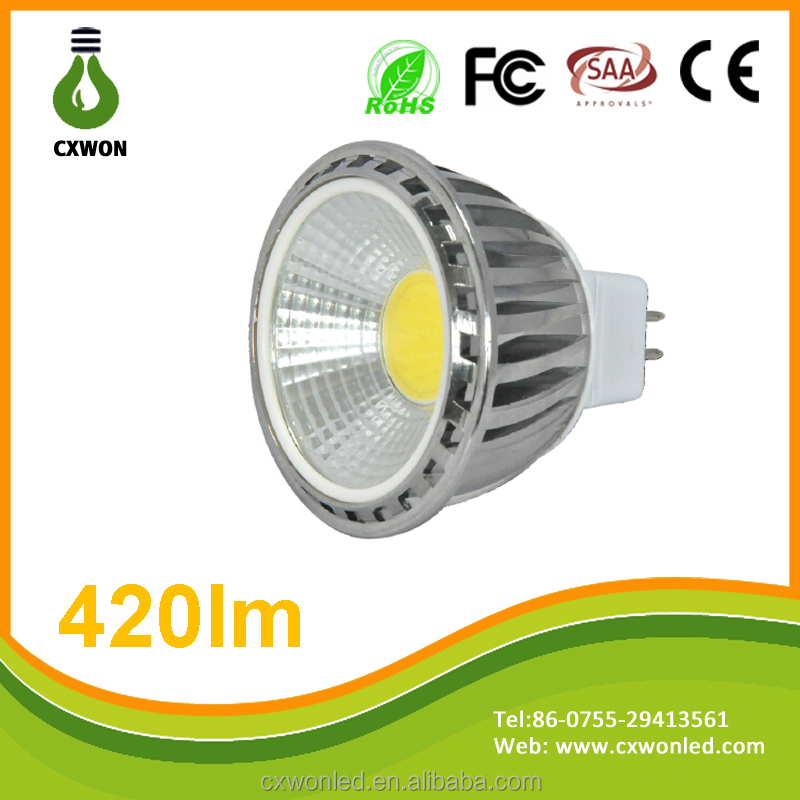 Best quality LED COB MR16 GU5.3 AC/DC12V Spot Lamp Unique design led spotlight 5w