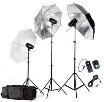 High quality photographic equipment studio light kit
