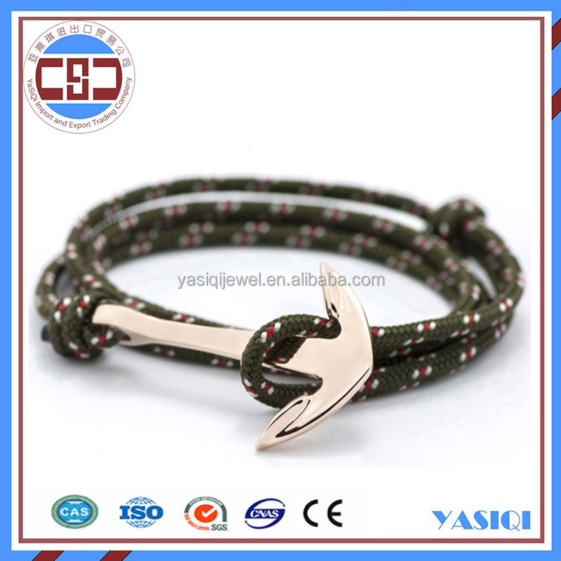 Wholesale best selling fashion navy nautical rope anchor bracelet meaning