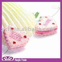 Diy special heart cake flat back resin cabochons for cell phone decotation