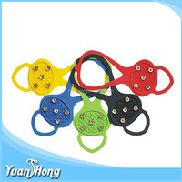 Wholesale OEM cheap price silicone antislip crampon with metal rivet