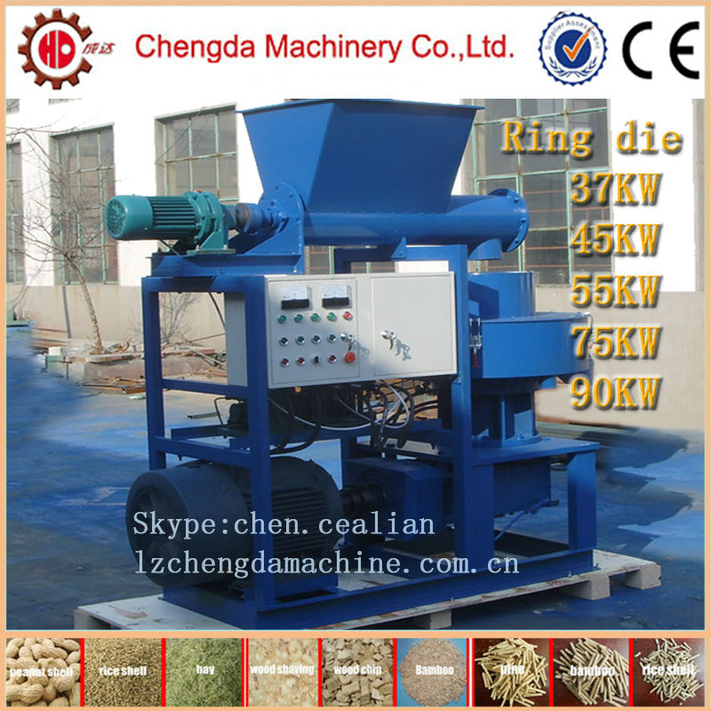 90kw 1.5T/H vertical ring die hay straw pellet mill with CE certification