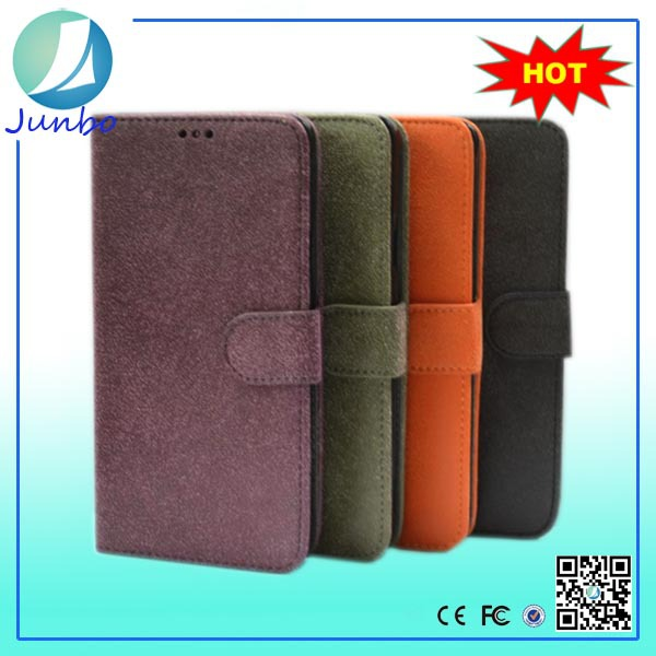 Wholesale custom leather belt clip flip wallet case for iphone 6