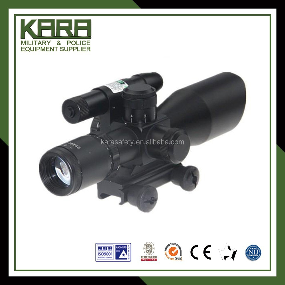 2.5-10x40 Dual Illuminated laser Riflescope Rifle scope Cut Sunshade/2.5-10x40mm Rifle scope with Green Laser