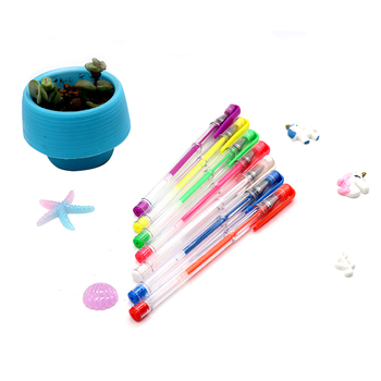 New Arrival Quality  Glitter Gel Ink Pen Manufacturers Mixed Colors Neon Pen Pack drawing pen set