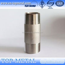 stainless steel npt to bsp one end thread nipple