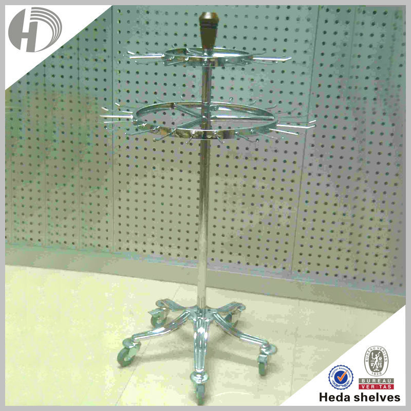 customized custmetal scarf display stand rack