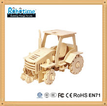 3D wooden model car toy