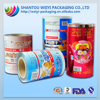 OEM high barrier automatic usage food plastic packaging film on rolls for chocolate packaging film rolls