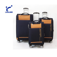 Nylon four wheels travel set custom business travel luggage bags