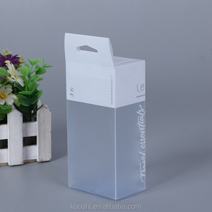 Logo printing luxury transparent custom gift packaging clear pvc box