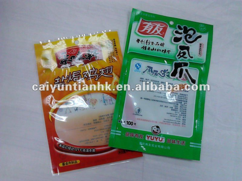 Plastic food bag for chicken or duck
