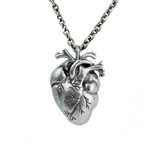 TOP QUALITY! Professional OEM Factory Wholesale 925 sterling silver jewelry anatomical heart necklace