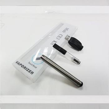 Wholesale vaporizer pen blister kit or metal box package plastic cartridge bud touch o pen mini vape pen ce3 cbd kit