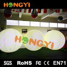 Inflatable lighting yellow clouds light ball rolling helium balloon stage interactive decoration