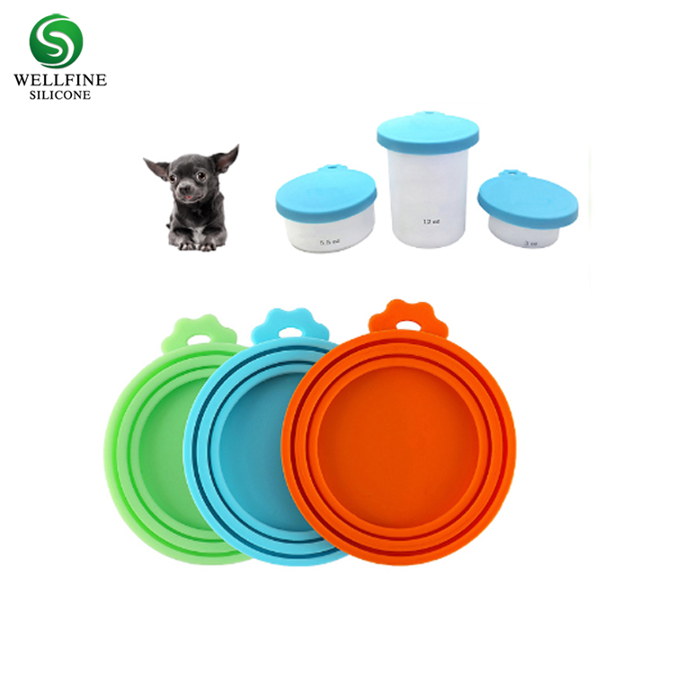 Universal Size Easy Open Silicone Pet Food Can Lid with BPA Free