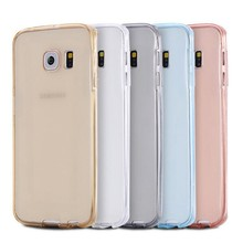 Wholesale hot selling full cover 360 degree transparent phone case for samsung Galaxy S8 plus case