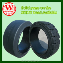 Best price natural rubber press on steel band trailer tyre 12x41/2x8, industrial tire press available
