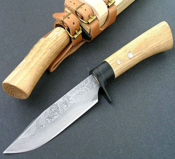 Forging steel KT-103 Rescue Knife Fixed Protective knives 59HRC Outdoor tools diving knife with Wood Handle 5283