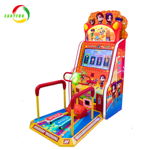 Indoor electronic coin operated super scooter simulator game machine