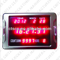 Metal Case LED Display With Countdown Function 2014 Custom-made Desk Calendar Designs