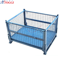 wire mesh metal storage cage container for transporting equipment