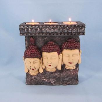 Handmade Resin Buddha Decorative Candle Holder For Sale