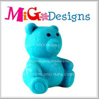 manufacture Small blue art decor for coin saving teddy bear