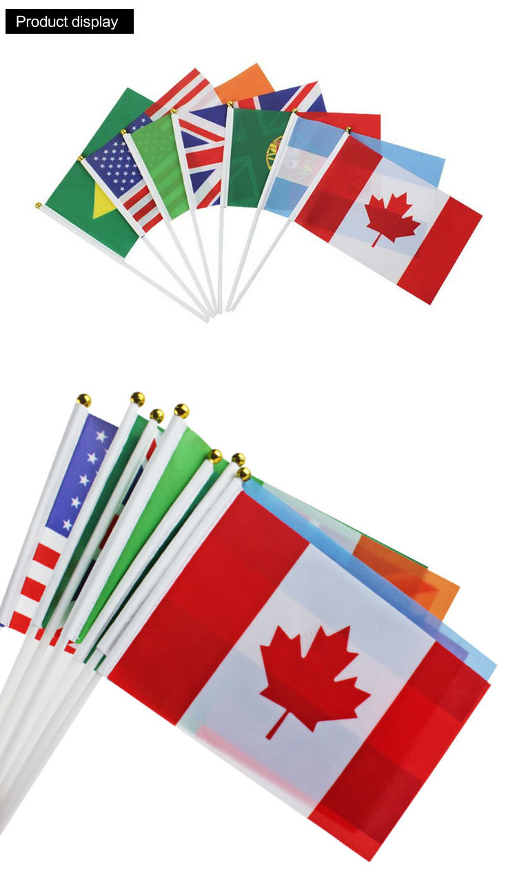 High Quality Custom Tour Guide Hand Flag With Tour Guide Flag Pole