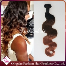 wholesale hair weave bundles distributors virgin peruvian/russian/ human hair vendors ombre three/two tone colored body wave