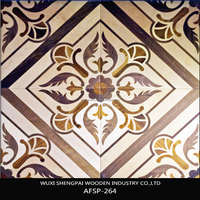 factory price majestic engineered painting art parquet wood flooring for interior dance floor decoration of shengpai china