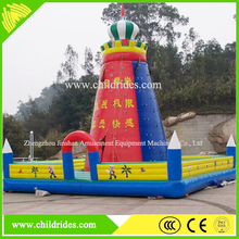 attractive fashionable exciting children equipment inflatable bouncy house, inflatable climbing wall for sale