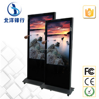 55inch touch kiosk totem portable video player sd card reader