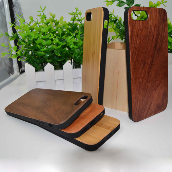New arrived straightedge TPU bamboo wooden cover case for iPhone 7/7 Plus