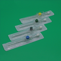 Surgical disposable type sizes parts of tapered iv cannula